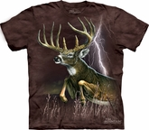 Deer Shirt Tie Dye Buck Lightning T-shirt Adult Tee