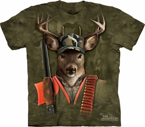 Deer Shirt Tie Dye Hunter Buck T-shirt Adult Tee