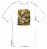 Deer T-shirt - Three of a Kind Deer Wildlife Adult Tee Shirt