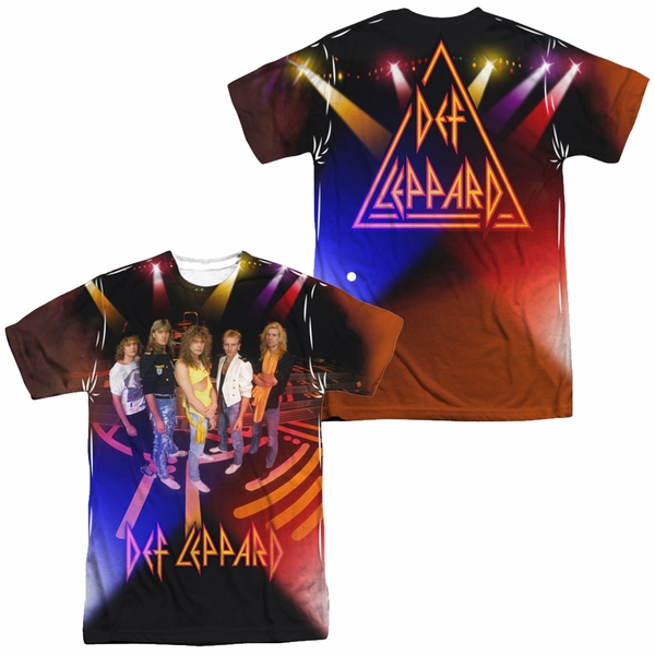 Men's Def Leppard on Stage Sublimination Tee. S to 3XL