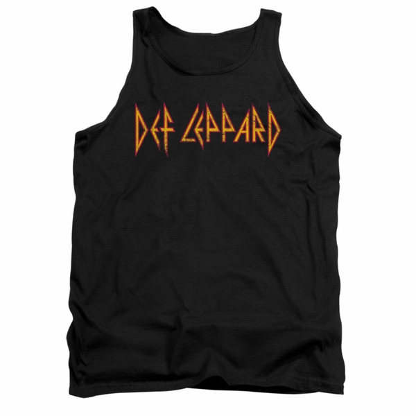 Unisex Def Leppard Black Tank Top. S to 3XL