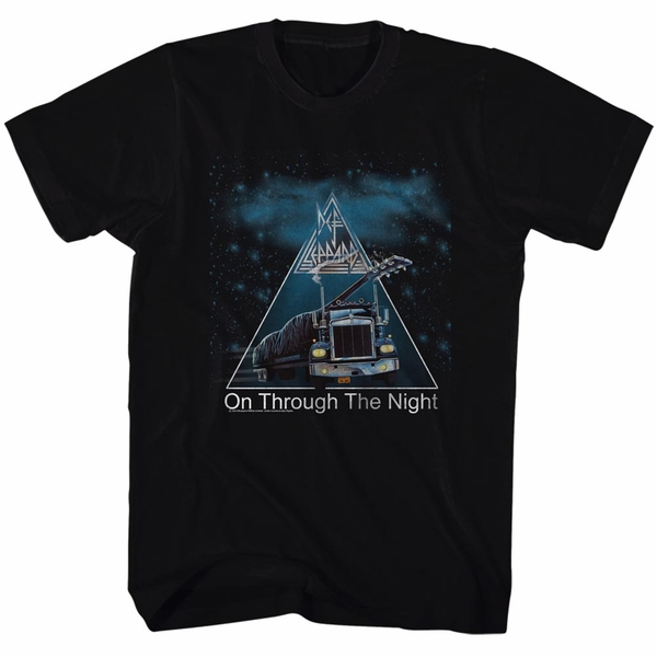 Unisex Through The Night T-shirt, black. S to 2XL