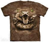Diamondback Rattle Snake Shirt Tie Dye Adult T-Shirt Tee