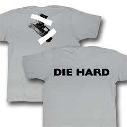 Die Hard Shirt Die Cut Adult Grey Tee T-Shirt
