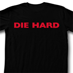 Die Hard Shirt Die Hard Logo Adult Black Tee T-Shirt