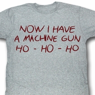 Die Hard Shirt HO HO HO Adult Gray Heather Tee T-Shirt