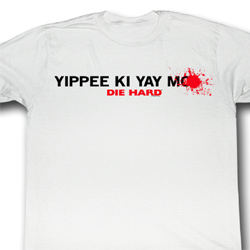 Die Hard Shirt Yippee Ki Yay Adult White Tee T-Shirt