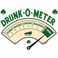 Drunk O Meter Funny Drinking Party College Adult T-shirt Tee Shirt