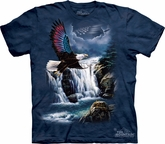 Eagle Shirt American Independence Flag T-shirt Tie Dye Blue Adult Tee