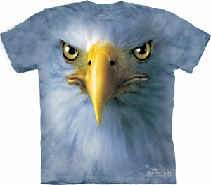 Eagle Shirt Tie Dye Bird Face T-shirt Adult Tee