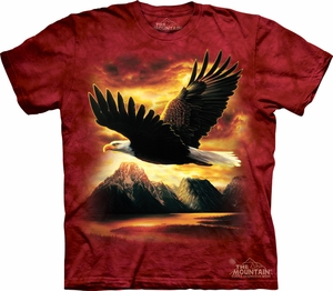 Eagle Shirt Tie Dye T-shirt American Bird Adult Tee