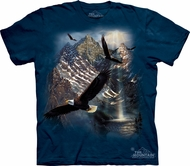 Eagle Shirt Tie Dye T-shirt Reflections of Freedom Adult Tee