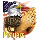 Eagle T-Shirt - In Our Prayers American Christian Adult Tee