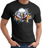 Eagle T-shirt - Rip Out Eagle Bird Animal Adult Tee Shirt