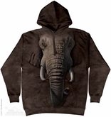 Elephant Face Hoodie Tie Dye Adult Hooded Sweat Shirt Hoody