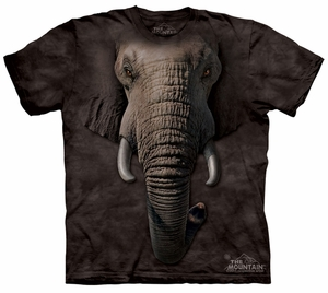 Elephant Kids Shirt Tie Dye Face T-shirt Tee Youth