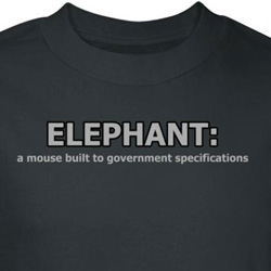 Elephant Shirt Mouse Built To Government Specifications Black Tee