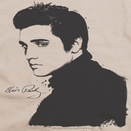 Elvis Presley Black Paint Shirts