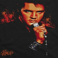 Elvis Presley Blue Eyes In The Dark Shirts