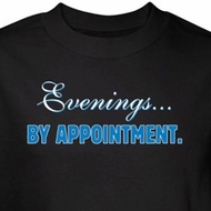 Evenings By Appointment Shirt Black Tee T-shirt