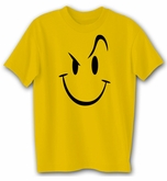 EVIL SMILEY Comedy Humor Funny Novelty Adult Gold T-shirt Tee Shirt