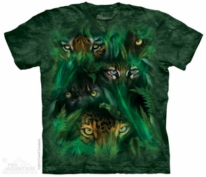 Eyes in the Jungle T-shirt Tie Dye Adult Tee