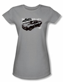 Fast And Furious Juniors T-shirt Movie Spray Car Silver Tee Shirt