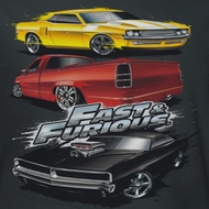 Fast And Furious Muscle Car Splatter Shirts