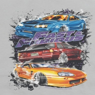 Fast And Furious Smokin Street Cars Shirts