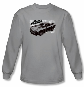 Fast And Furious T-shirt Movie Spray Car Silver Long Sleeve Shirt