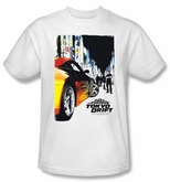 Fast And Furious Tokyo Drift T-Shirt Poster Adult White Tee Shirt