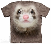 Ferret Face Shirt Tie Dye Adult T-Shirt Tee