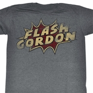 Flash Gordon Shirt Dots Adult Heather Grey Tee T-Shirt