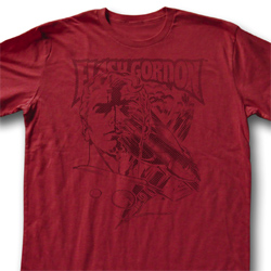 Flash Gordon Shirt Flash Adult Heather Red Tee T-Shirt