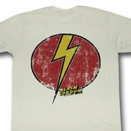 Flash Gordon Shirt Flash Bolt Adult Dirty White Tee T-Shirt