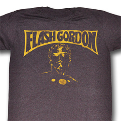 Flash Gordon Shirt Flash Bust Adult Heather Purple Tee T-Shirt