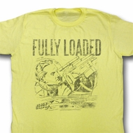 Flash Gordon Shirt Fully Loaded Adult Yellow Tee T-Shirt