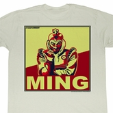 Flash Gordon Shirt Ming Adult Dirty White Tee T-Shirt