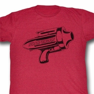 Flash Gordon Shirt Ray Gun Adult Heather Red Tee T-Shirt