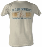 Flash Gordon T-Shirt - Conquer Adult Dirty White Tee Shirt