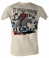 Flash Gordon T-Shirt - Flash Adult Dirty White Tee Shirt