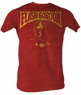 Flash Gordon T-Shirt - Flash Bust Adult Red Heather Tee Shirt