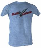 Flash Gordon T-Shirt - Flash Comic Logo Adult Light Blue Tee Shirt
