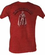 Flash Gordon T-Shirt - Mingin Adult Red Heather Tee Shirt