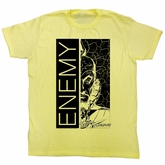 Flash Gordon T-Shirt Movie Enemy Adult Yellow Tee Shirt