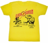 Flash Gordon T-Shirt Movie Monopoly Pawnage Adult Yellow Tee Shirt