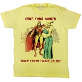 Flash Gordon T-Shirt Movie Shut It Adult Yellow Tee Shirt