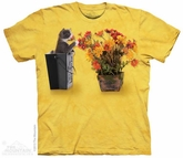 Flower Kitten Shirt Tie Dye Adult T-Shirt Tee