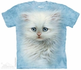 Fluffy White Kitten Shirt Tie Dye Adult T-Shirt Tee