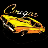 Ford Cougar T-shirts - Classic Yellow Muscle Car Adult Tee Shirts